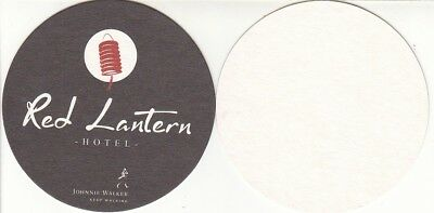 Johnnie Walker - Red Lantern Hotel Round Australian Beer Coaster - Beer Mat