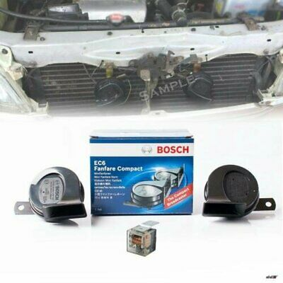 Car Electric Horn Set BOSCH Horn Fanfare Compact Twin Horn Set 12V 400Hz 500Hz