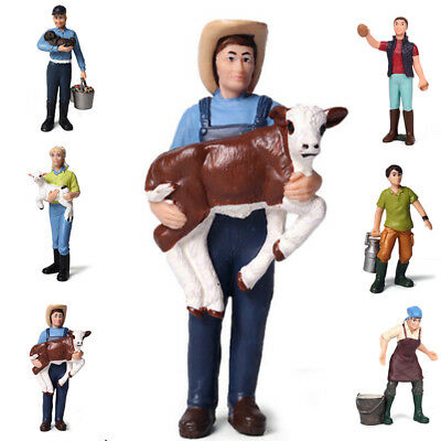 Simulated Farm Farmer Worker Doll Model Figure Decoration For Fits Kids Toys
