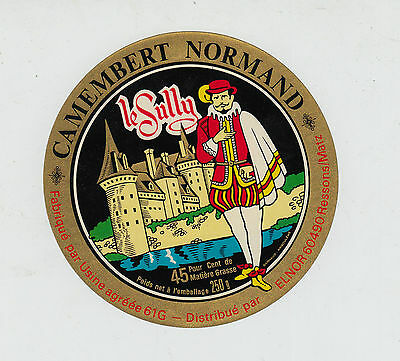 Ancienne étiquette Fromage Camembert Normandie  Le Sully