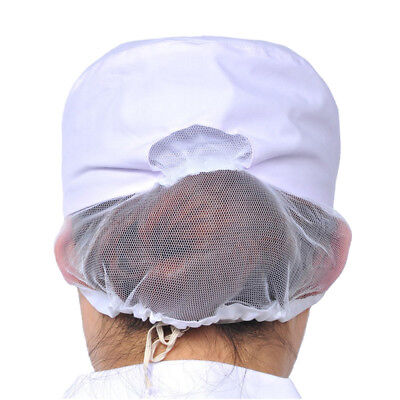 Hygiene Snood Cap Women White Catering Hat Chef Bakers Bouffant Food Reusable
