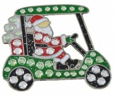 Navika Santa's Cart. Crystal and Glitz Ball Marker with Hat Clip. Best Price