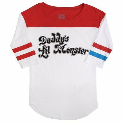 Suicide Squad Harley Quinn T-Shirt Cosplay Costume Shirt Fancy Dress Crop Tops #