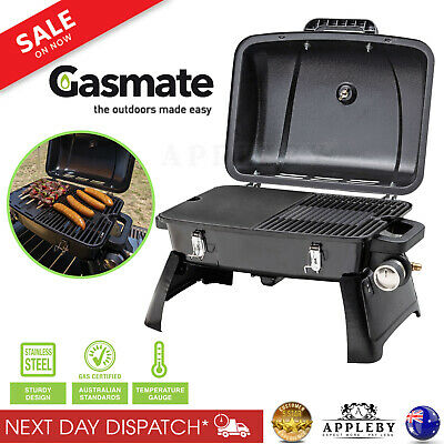 New Gasmate Portable Gas BBQ Grill LPG Outdoor Camping Barbecue Cooking Picnic
