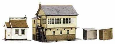 SUPERQUICK CARD KIT A6 -Signal Box + Shed and Office OO/HO MODEL TRAINS