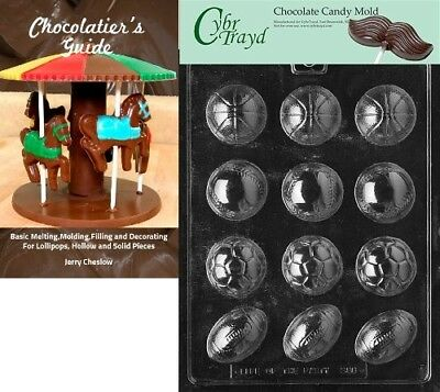 Cybrtrayd Ball Assortment Sports Chocolate Candy Mould with Chocolatier's