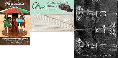 Cybrtrayd 'Cheerleader with Pompom Lolly' Sports Chocolate Candy Mould with 25