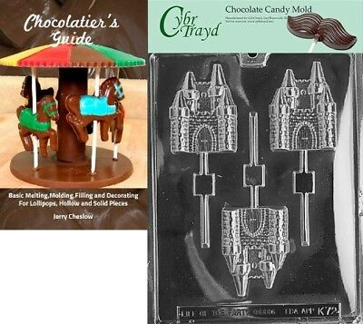 Cybrtrayd Castle Lolly Kids Chocolate Candy Mould with Chocolatier's Guide
