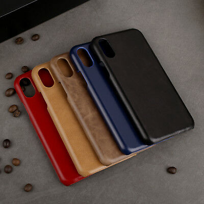 Luxury Genuine Leather Cowhide Case For iPhone XR XS Max Ultra Thin Back Cover