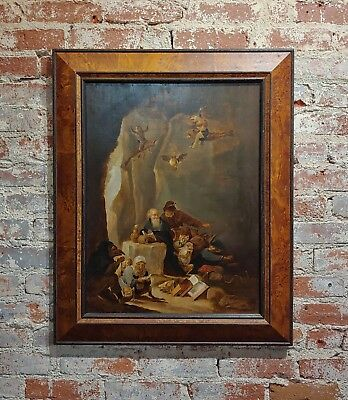 David Teniers the Younger (Flemish) The Temptation of St. Anthony-Oil Painting