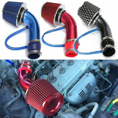 Universal Car Cold Air Intake Filter Induction Kit Pipe Hose System Carbon