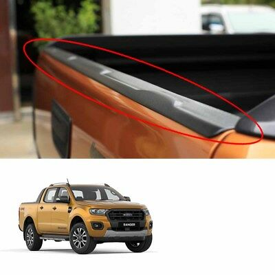 Black Rear Line Upper Tailgate Cap Cover Fits Ford Ranger Wildtrak 2018 - 2019