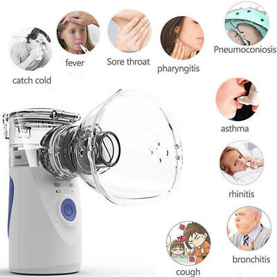 Portable Ultrasonic Nebulizer Handheld Nebuliser Humidifier Respirator