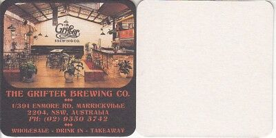 Grifter Brewing Co Square Beer Coaster - Beer Mat 02