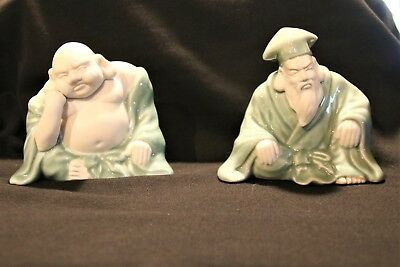 Buddha & Confucius Beautiful Pair Imported Exclusively By Abbott Look!!!