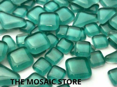 Aqua Green Crystal Glass Melts - Mosaic Tiles Supplies Art Craft