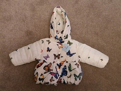 Baby Girls Winter Butterfly Jacket 12-18 Months, New