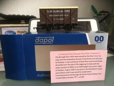 Ltd Edition Dapol 00 gauge Wagon S Healing & Sons Tewkesbury BNIB