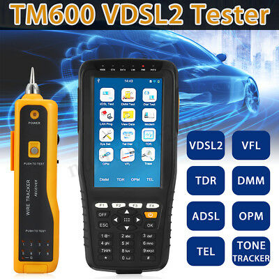 TM-600 All-in-One VDSL2 Tester TDR/ TEL/ OPM/ VFL Function Tone+Wire Tracker Kit