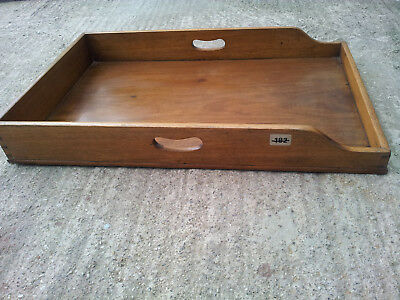 Antique vintage large solid wood tray