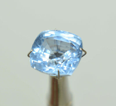 Natural 10.95 CT Genuine Aquamarine Cushion Cut Loose gemstone Ggl Certificate