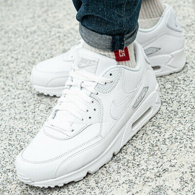 Cuir Blanc Air Baskets Nike Hommes 90 Sport Leather Chaussures Max Tqxwqz