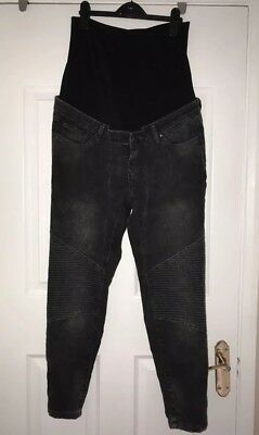 Maternity Black Blooming Marvellous (Mothercare) skinny jeans Size 14R