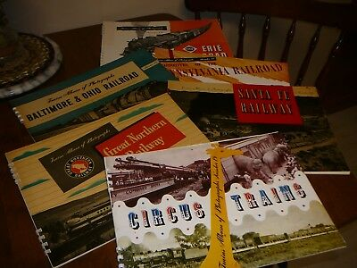 Lot Of Train Photograph Books - Erie, Great Northern, Santa Fe...