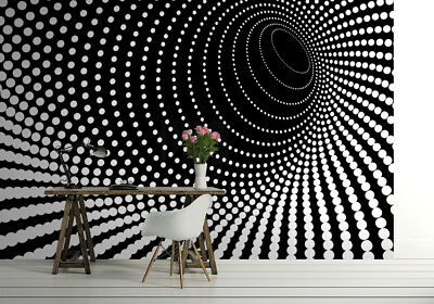 143x100inch giant size wallpaper for bedroom walls Black abstract dots FAULTY