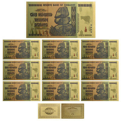 10pcs Zimbabwe Bill Banknote Colored Note Money Wholesale Holiday Collections