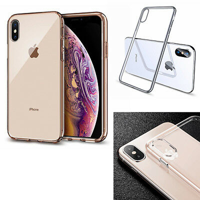 New iPhone Xs / Xs MAX / XR / X Hard Crystal Clear Transparent Thin Case Cover