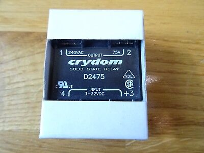 New Sensata / Crydom 75 A rms Solid State Relay D2475,  291-2040