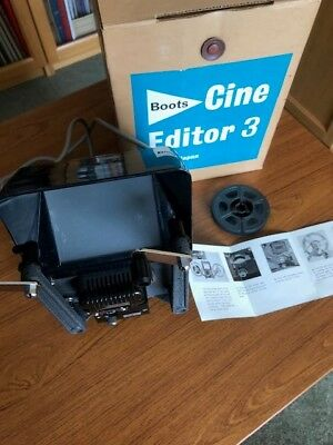 BOOTS cine Editor 3 film viewer, with 8-16mm PYRAMID SPLICER