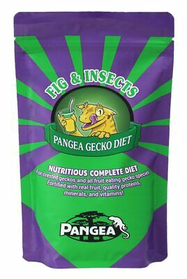 JUST IN!  Pangea Gecko Diet - FIG & INSECTS Complete Food for your Crested Gecko