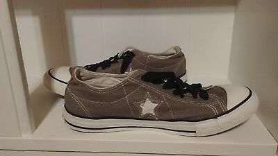 Converse One Star Low Top Gray W/ White Men's Sneakers Shoes Mens Size 8 Canvas