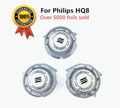3 Quality Shaver Head Razor Blades Cutter Comfort Compatible with Philips HQ8