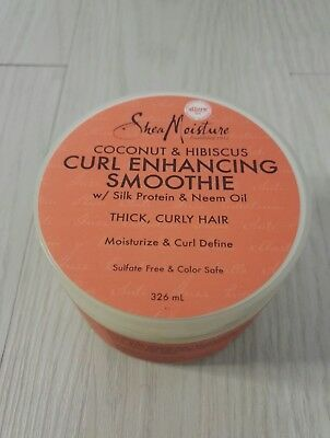 Shea Moisture Coconut And Hibiscus Curl Enhancing Smoothie For Thick Curly Hair
