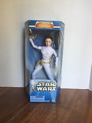 "Star Wars 12"" Inch Figure Attack of the Clones PADME AMIDALA NEW 2002"