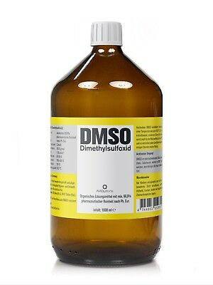 DMSO 1000ml Dimethylsulfoxid, über 99,9% Reinheit (Ph. Eur.) in Braunglasflasche