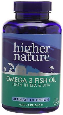 Higher Nature Fish Oil Omega 3 1000mg - 180 Capsules