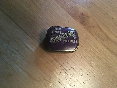 Vintage Advertising Gramophone Needle Tin - CWS Sylvaphone