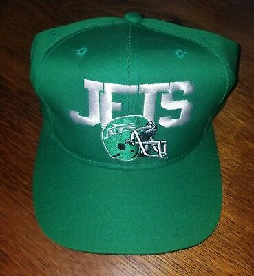 Vintage New York Jets SnapBack New Era Hat, 80s, Pro Model, NFL, Rare