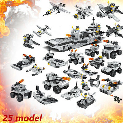 545 pcs Military Army Vehicle Tanks Model Building Blocks DIY Bricks Kids Toys