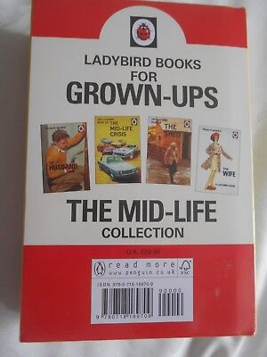 SET of 4 LADYBIRD BOOKS FOR GROWN-UPS THE MID-LIFE COLLECTION BRAND NEW SEALED