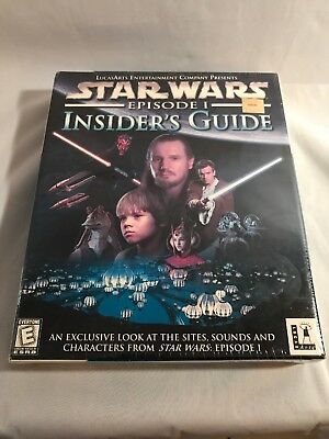 STAR WARS EPISODE 1 INSIDER'S GUIDE PC CD ROM SOFTWARE SEALED Game Lucas Arts