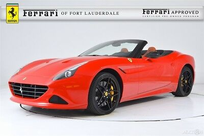 2017 Ferrari California T Special Handling Certified CPO Carbon Fiber LED Shields Yellow Calipers Special Stitching Forged Dark Painted