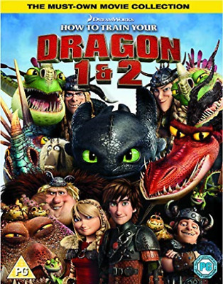How To Train Your Dragon/ How To Train Your Dragon 2 - 2018 Artwork... DVD NEUF