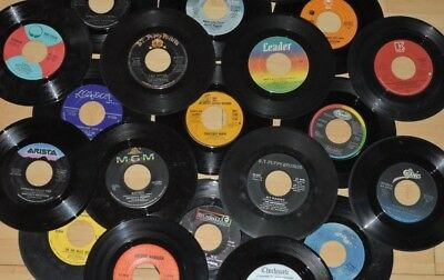"Random Lot Of 50 7"" 45 Records Art from Juke Funk/Soul, Country, Pop 1950's-80's"