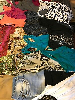 HUGE Mixed Lot of Womens Teen Shirts Pants Dresses  Size Small