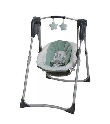 Graco Slim Spaces Compact Infant Baby Swing 4446 Adjustable Height Foldable GR1